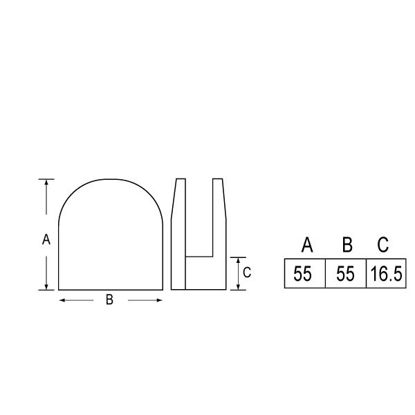 SS-1101F 6mm,8mm Glass Clip-1