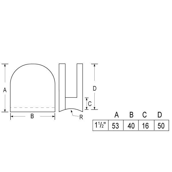Z-10999R Golden Plate 6mm,8mm Glass Clip-1